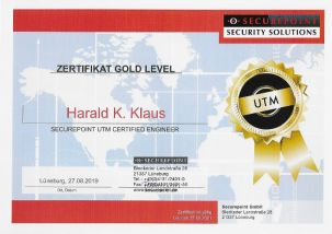 Zertifikat Gold Level